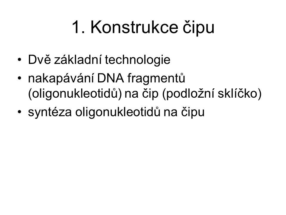 1. Konstrukce čipu Dvě základní technologie