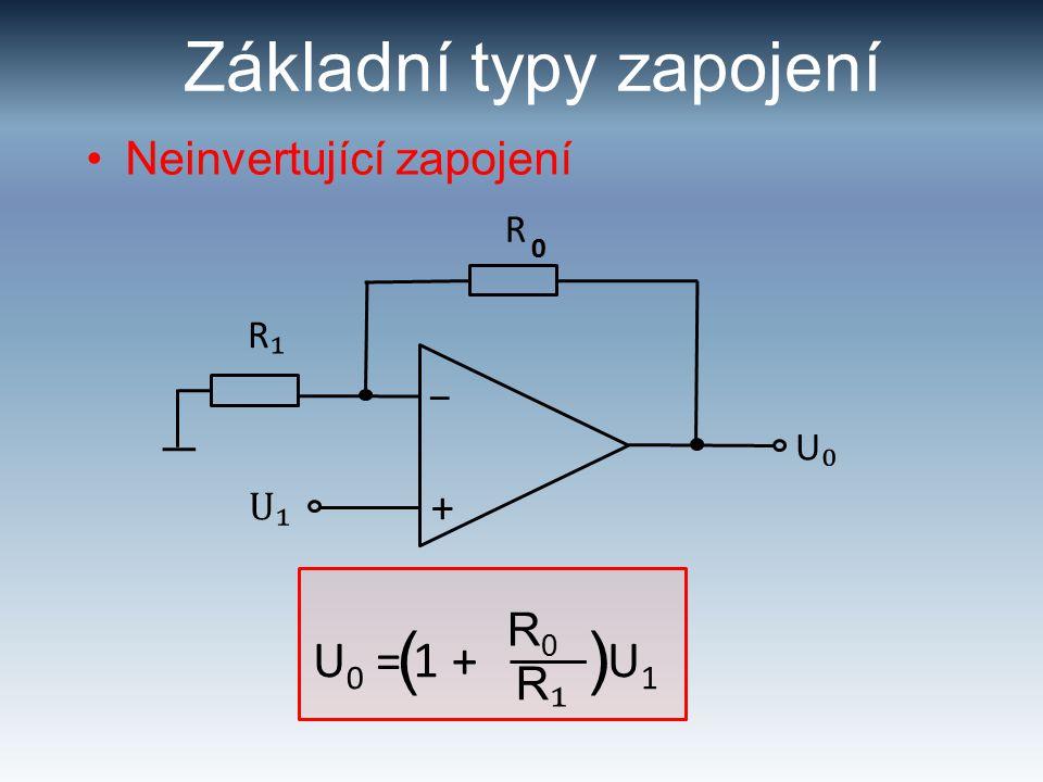 Základní typy zapojení