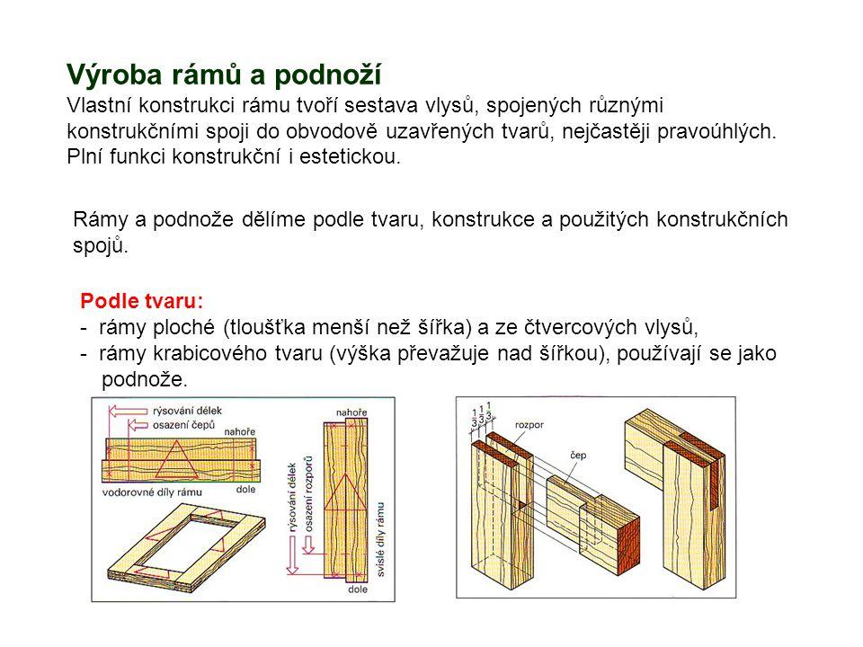 Výroba rámů a podnoží