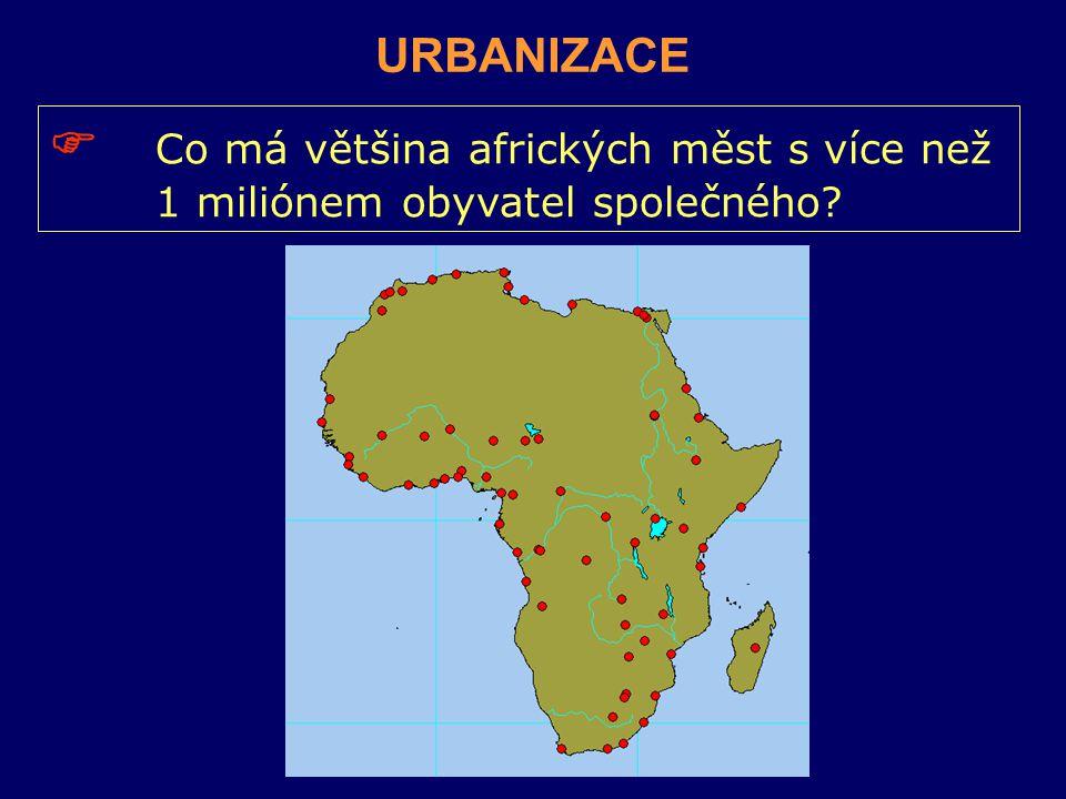  Co má většina afrických měst s více než