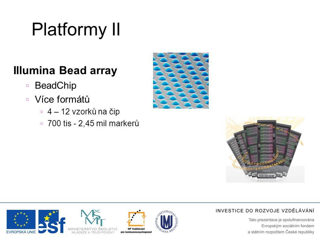 Platformy II Illumina Bead array BeadChip Více formátů