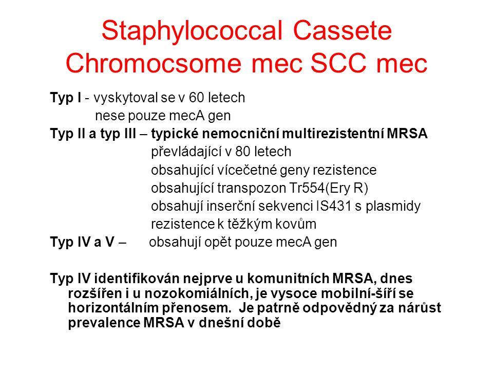 Staphylococcal Cassete Chromocsome mec SCC mec