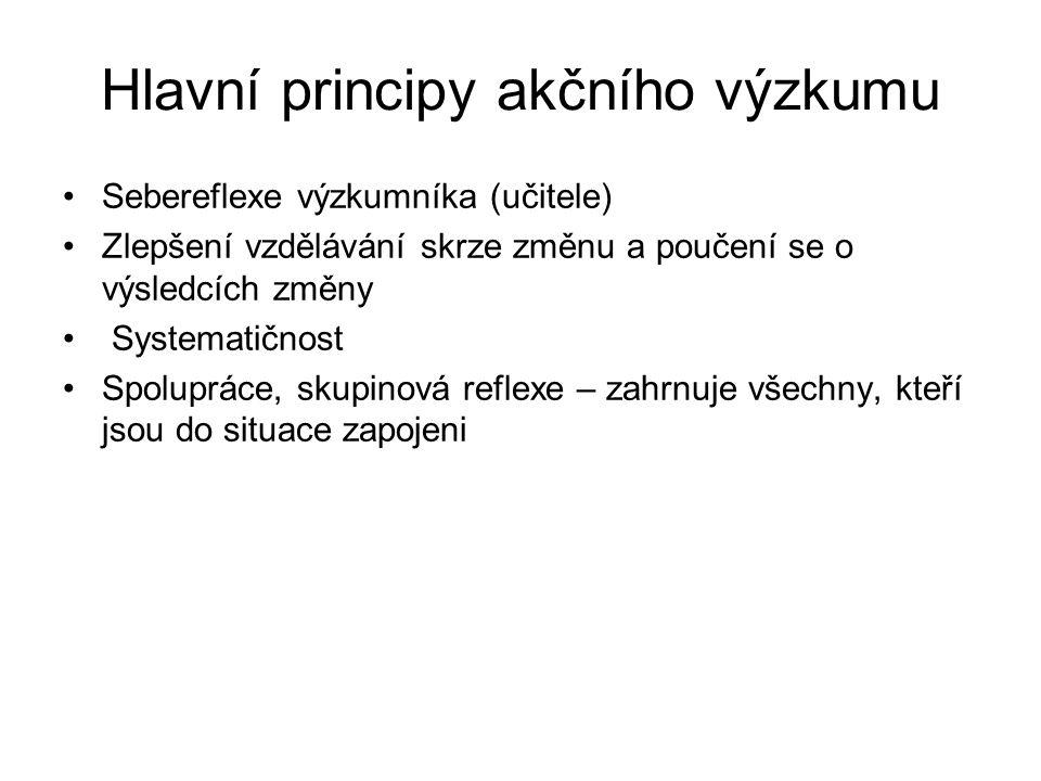 Hlavní principy akčního výzkumu