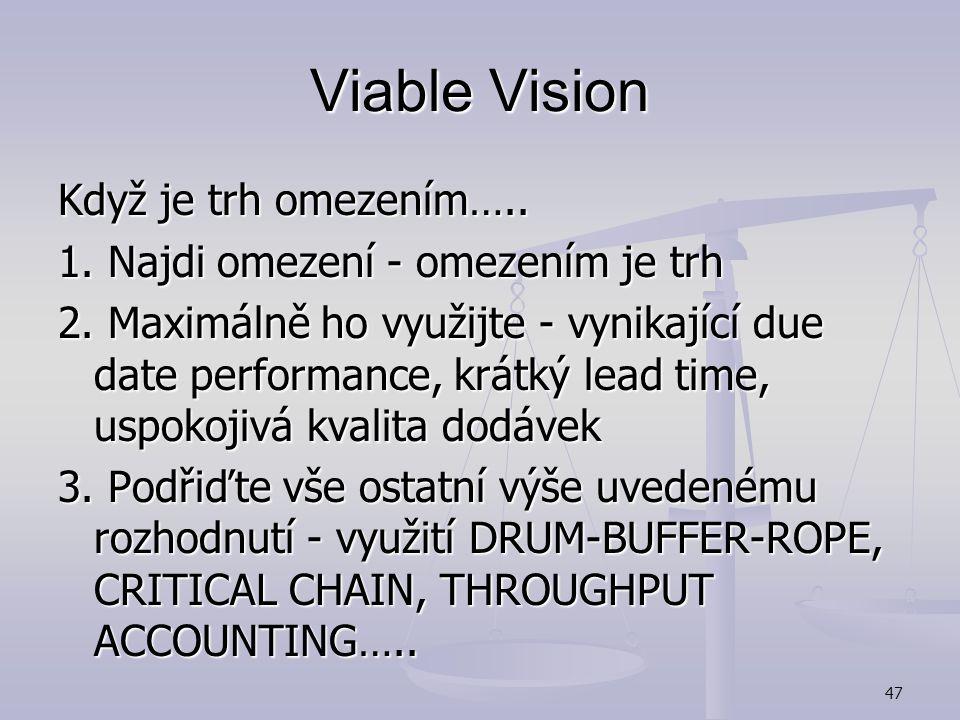 Viable Vision Když je trh omezením…..