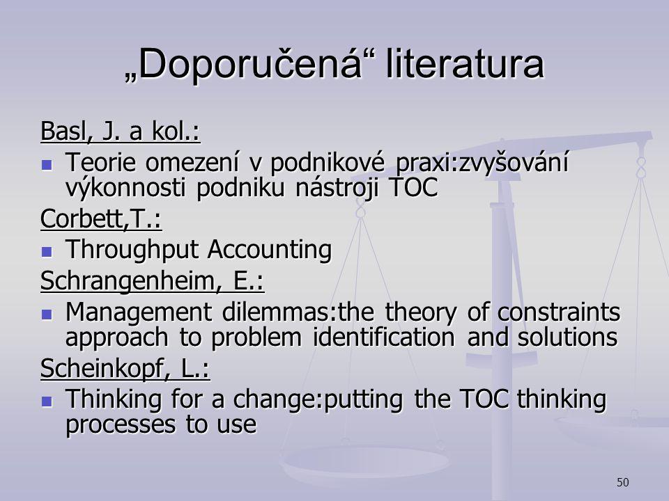 """""""Doporučená literatura"""