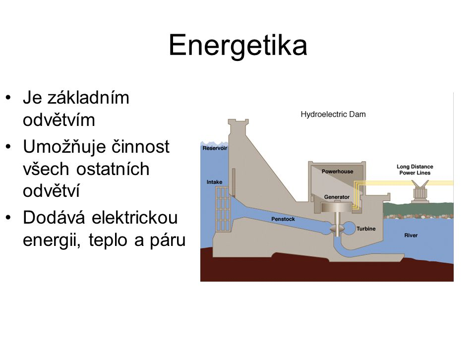 Energetika Je základním odvětvím