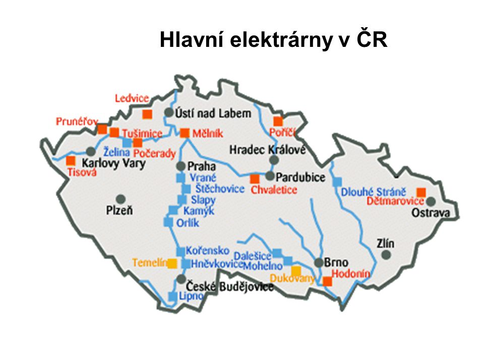 Hlavní elektrárny v ČR