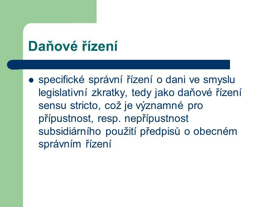 Daňové řízení