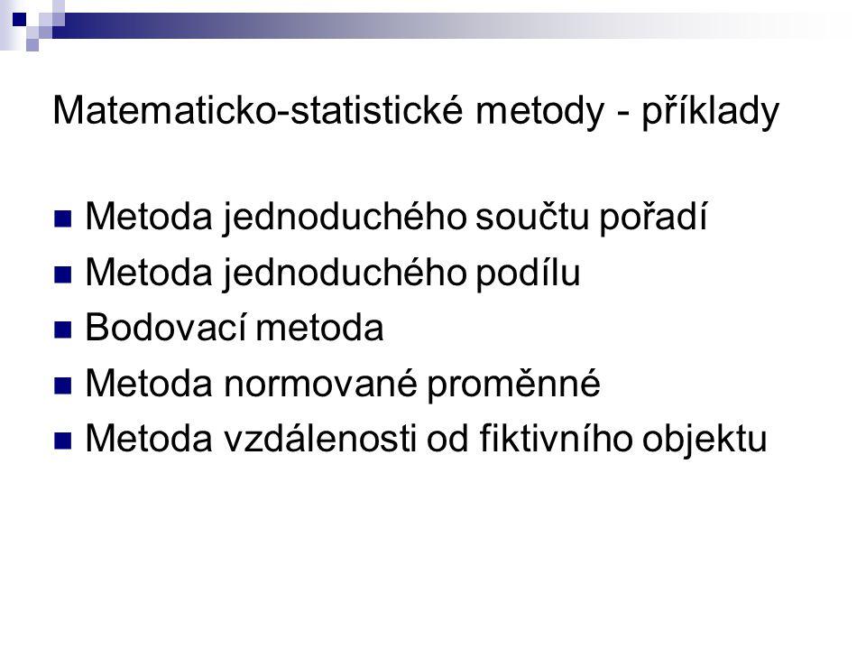 Matematicko-statistické metody - příklady