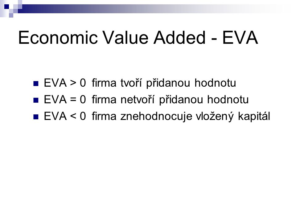 Economic Value Added - EVA