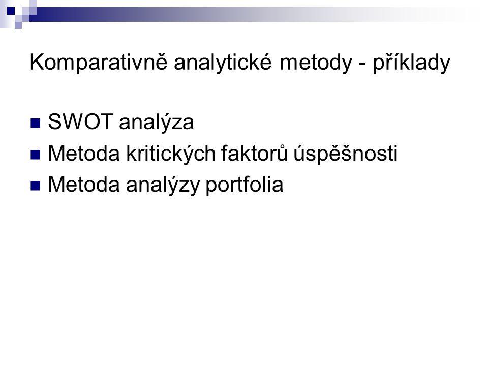 Komparativně analytické metody - příklady