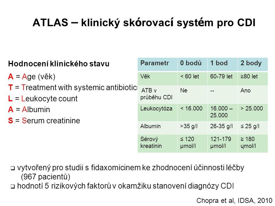 ATLAS – klinický skórovací systém pro CDI