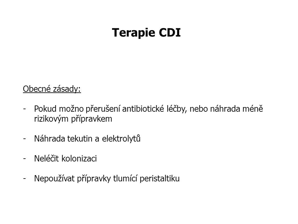 Terapie CDI Obecné zásady: