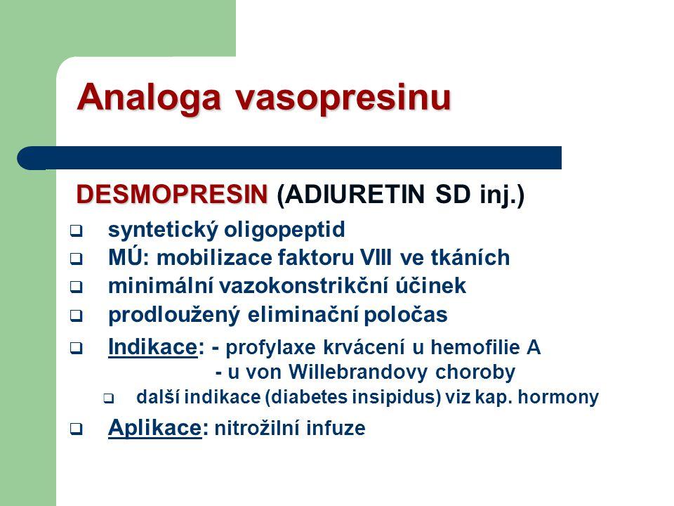 Analoga vasopresinu DESMOPRESIN (ADIURETIN SD inj.)