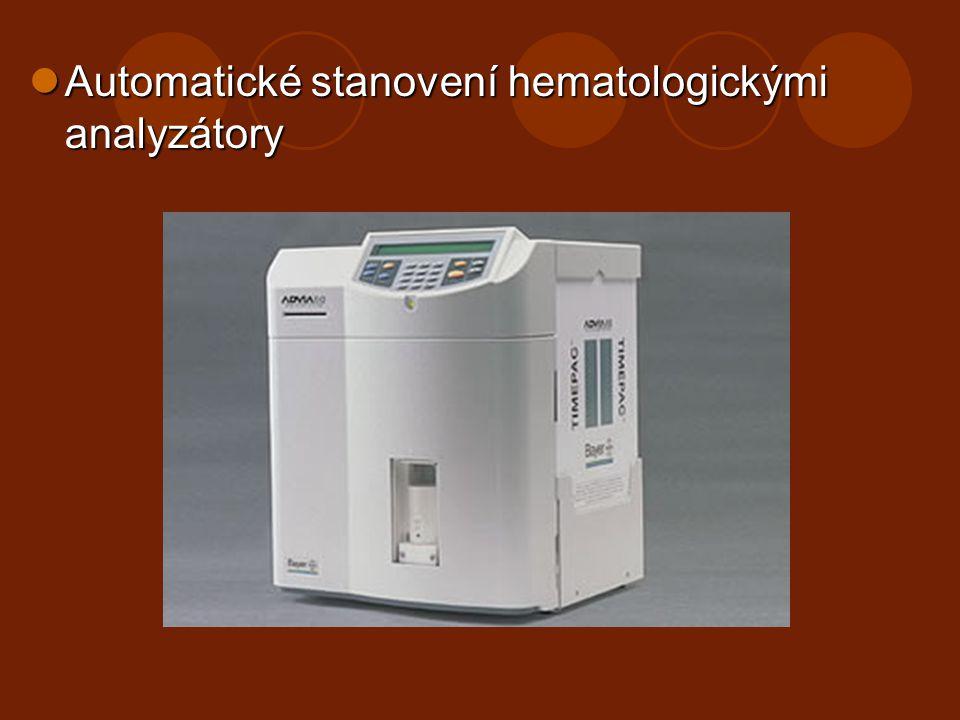 Automatické stanovení hematologickými analyzátory