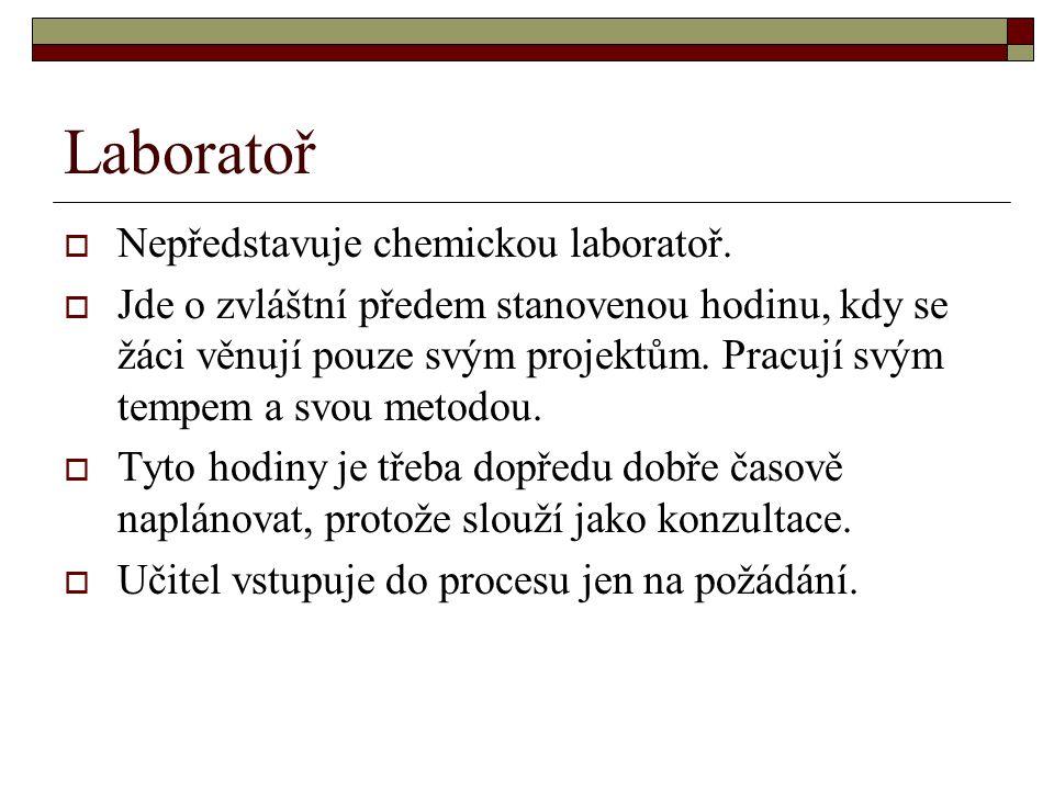 Laboratoř Nepředstavuje chemickou laboratoř.