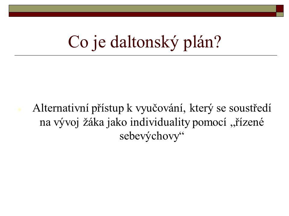 Co je daltonský plán.