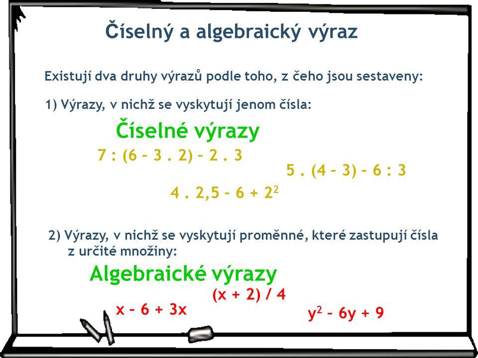 Číselný a algebraický výraz