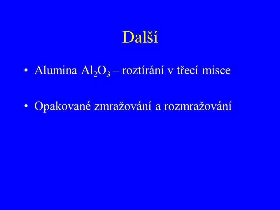 Další Alumina Al2O3 – roztírání v třecí misce
