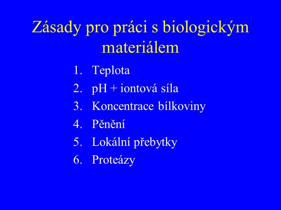Zásady pro práci s biologickým materiálem