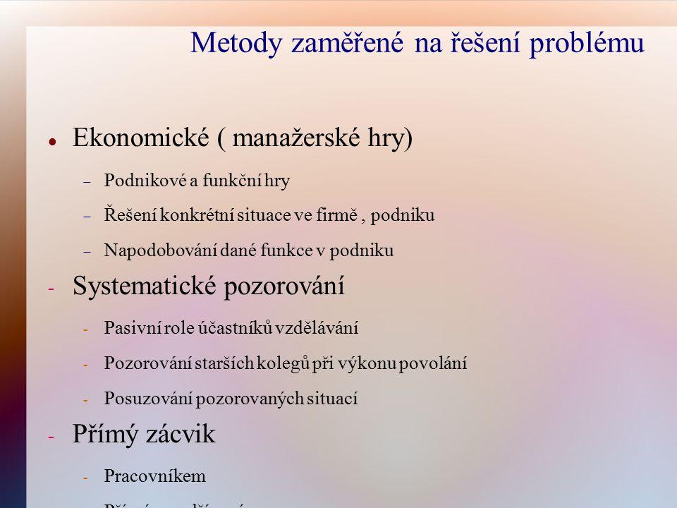Metody zaměřené na řešení problému