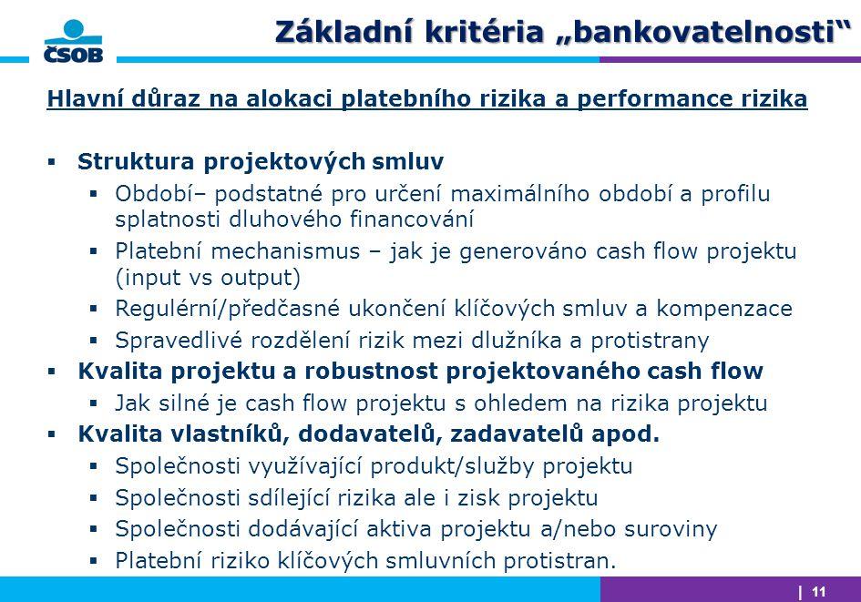 """Základní kritéria """"bankovatelnosti"""