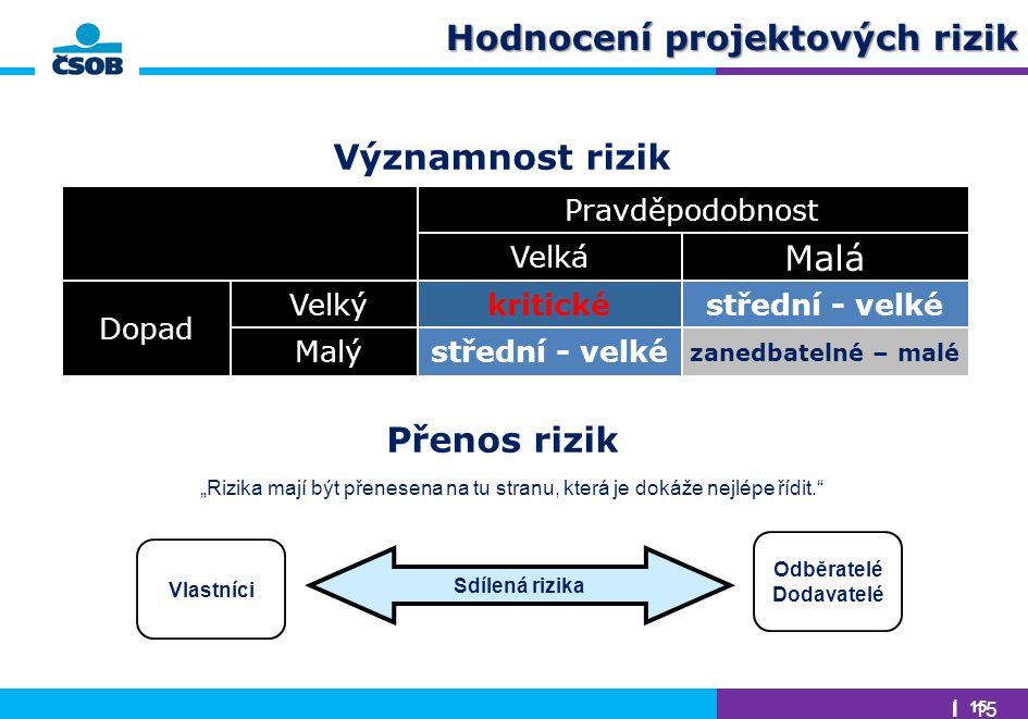 Hodnocení projektových rizik