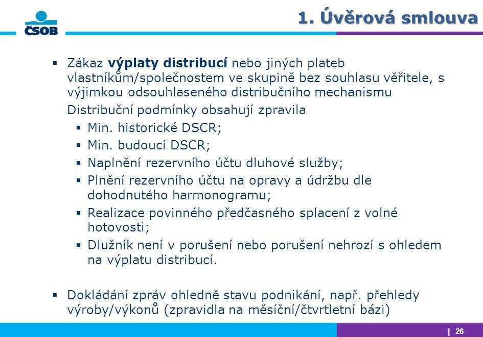 1. Úvěrová smlouva