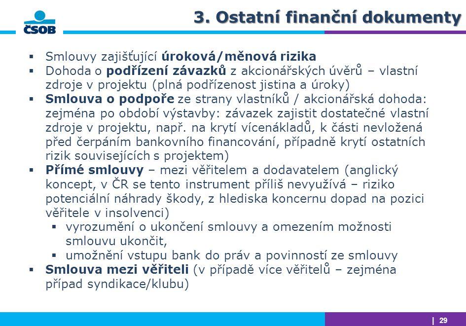 3. Ostatní finanční dokumenty