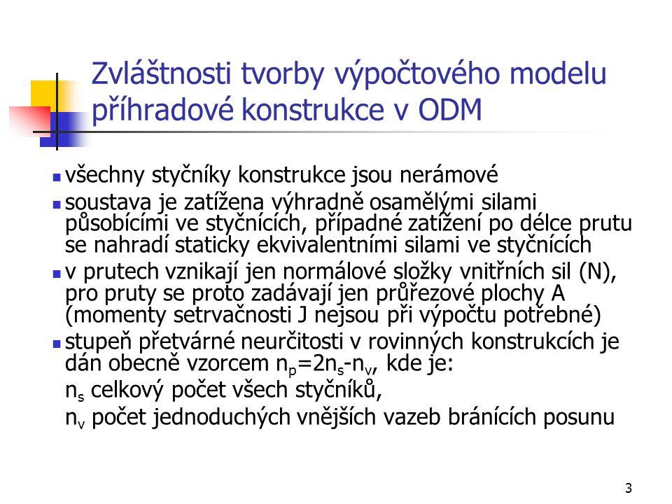 Zvláštnosti tvorby výpočtového modelu příhradové konstrukce v ODM