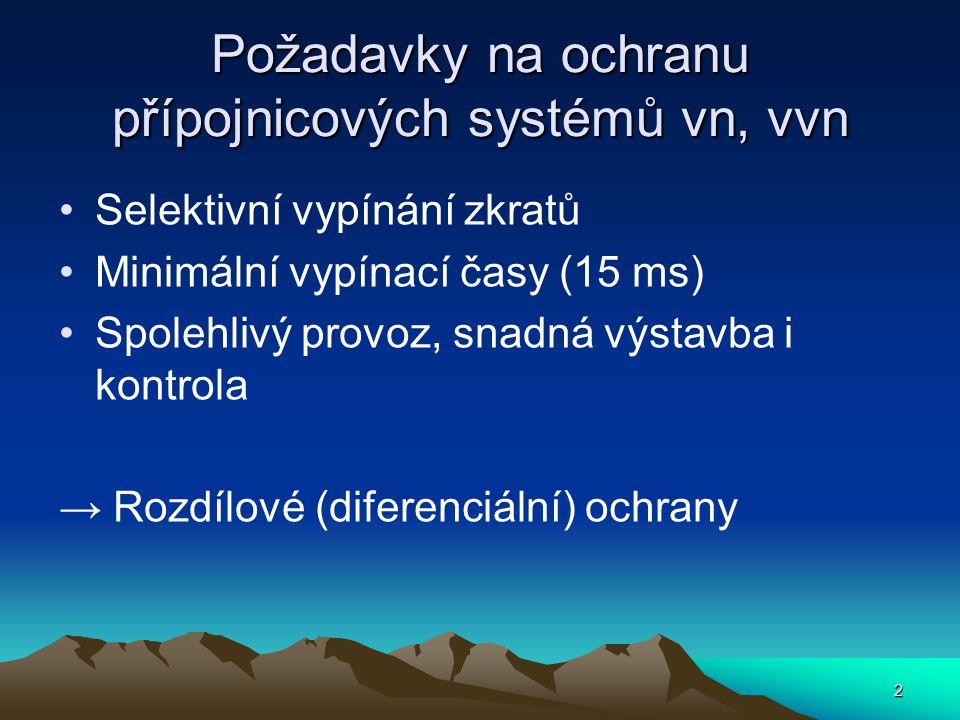 Požadavky na ochranu přípojnicových systémů vn, vvn