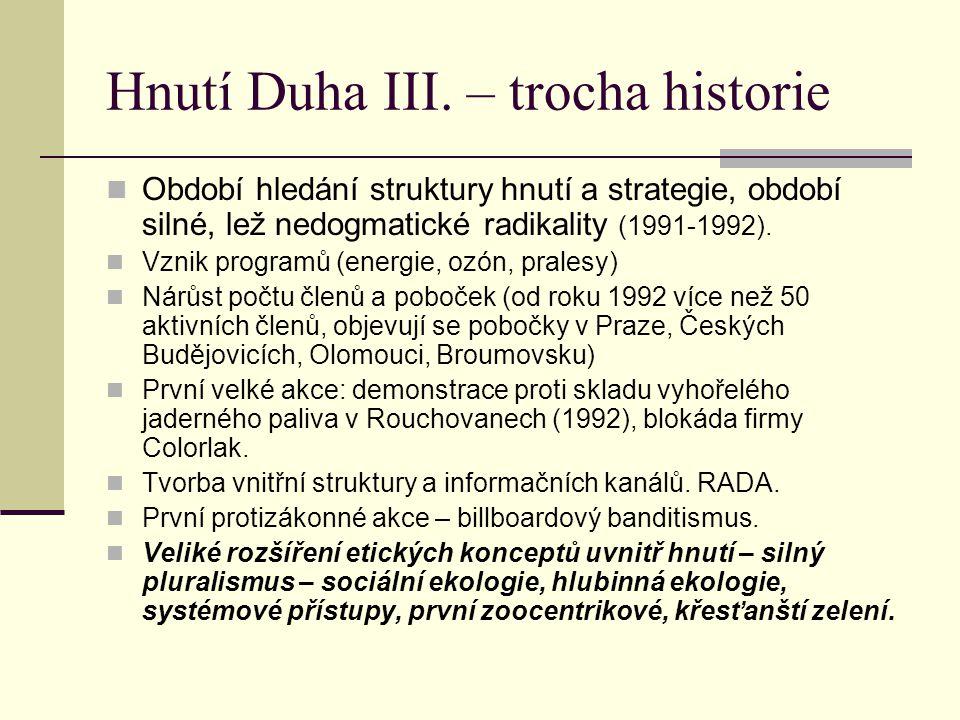 Hnutí Duha III. – trocha historie