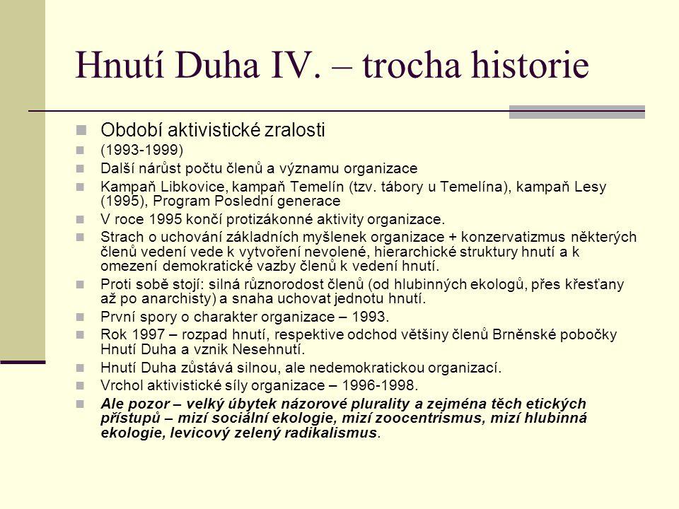 Hnutí Duha IV. – trocha historie