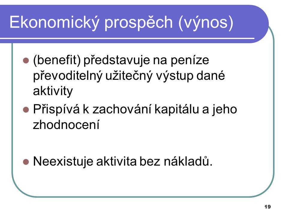 Ekonomický prospěch (výnos)