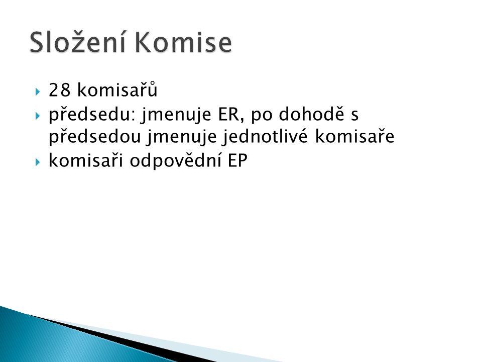 Složení Komise 28 komisařů
