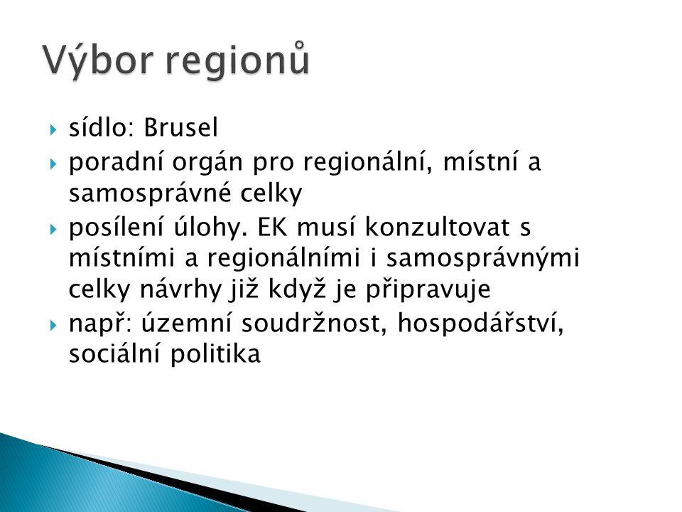 Výbor regionů sídlo: Brusel