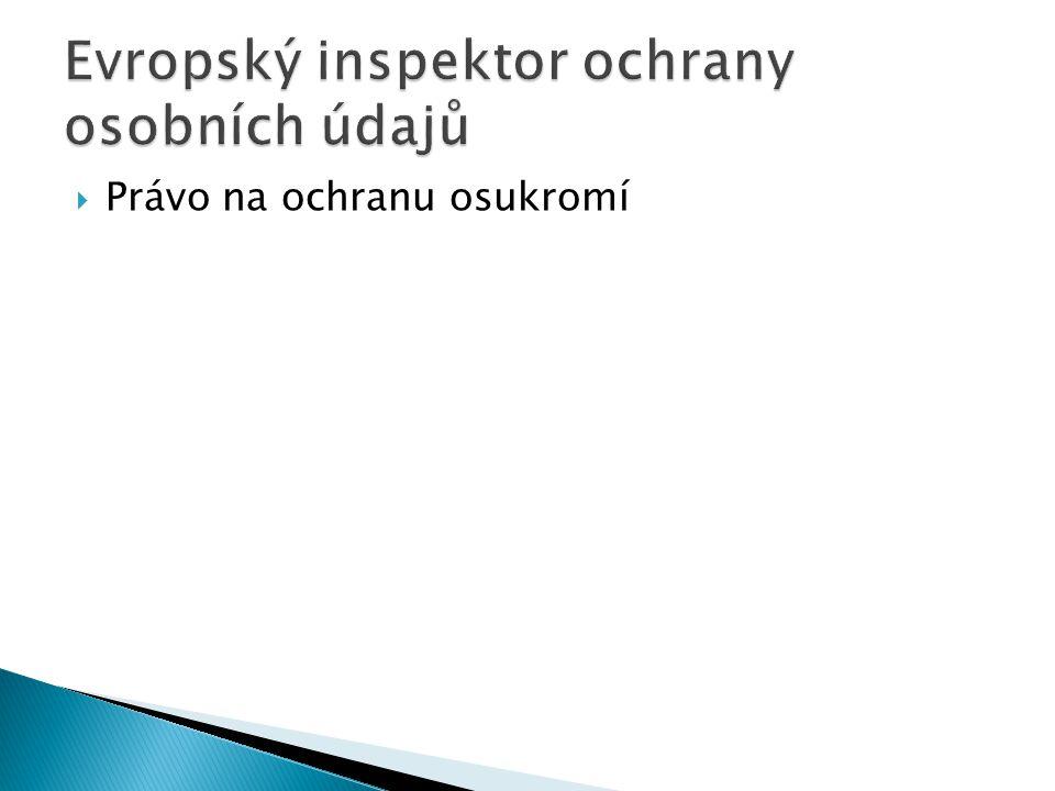 Evropský inspektor ochrany osobních údajů