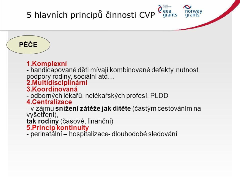 5 hlavních principů činnosti CVP