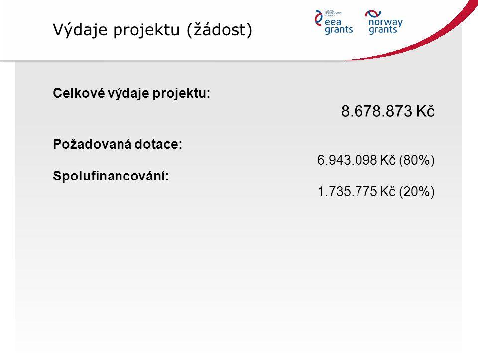 Výdaje projektu (žádost)