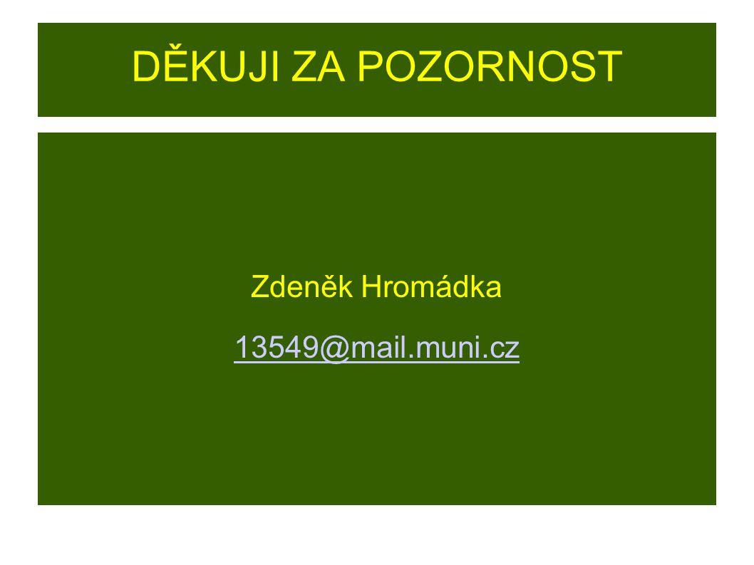 Zdeněk Hromádka 13549@mail.muni.cz