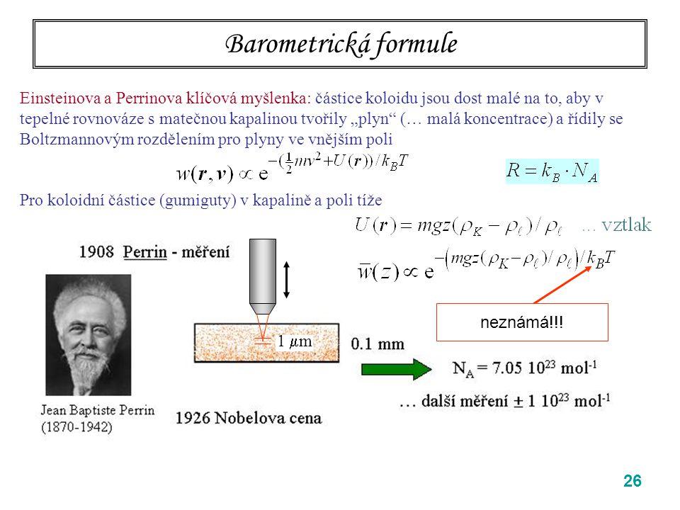 Barometrická formule