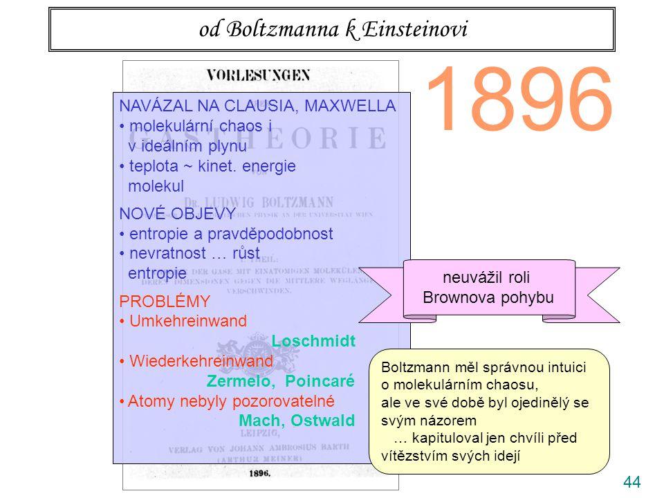 od Boltzmanna k Einsteinovi