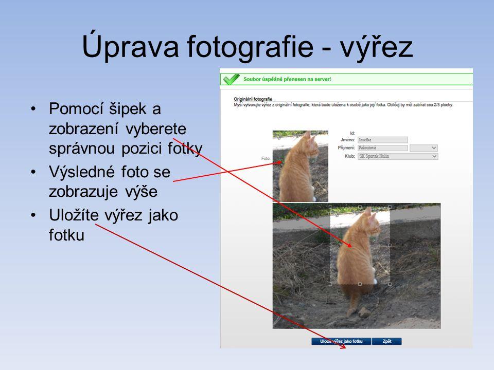Úprava fotografie - výřez