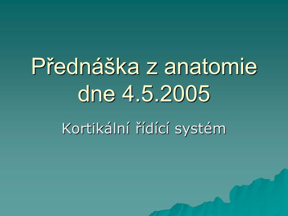 Přednáška z anatomie dne 4.5.2005