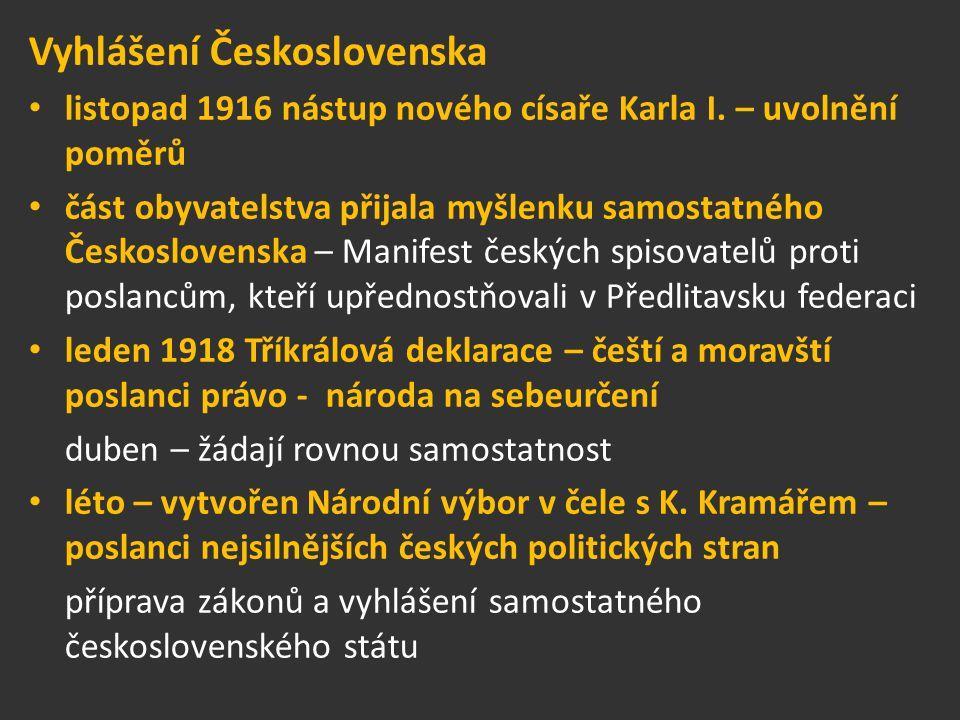 Vyhlášení Československa