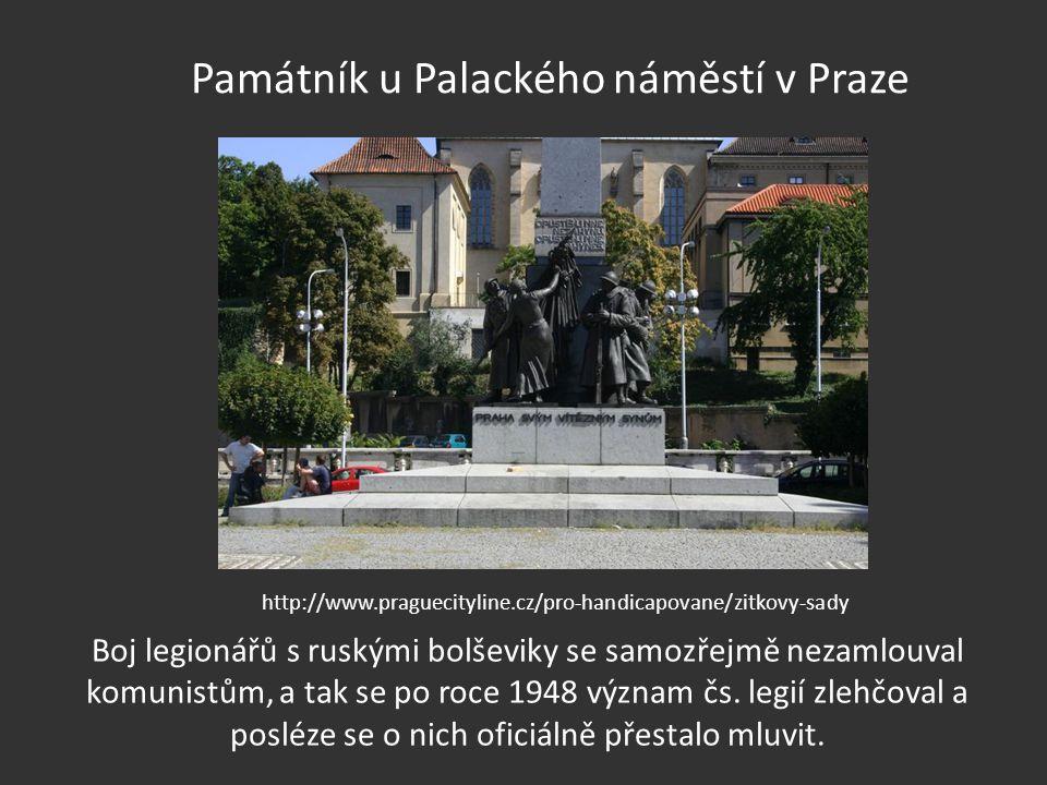 Památník u Palackého náměstí v Praze