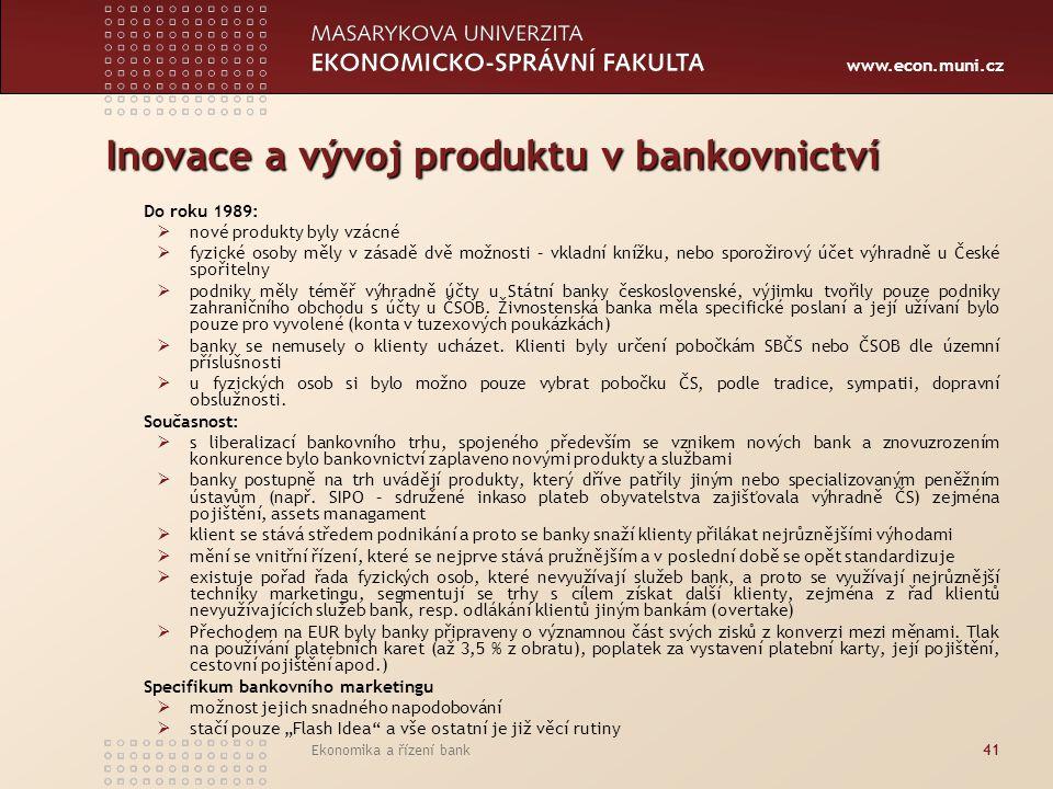 Inovace a vývoj produktu v bankovnictví