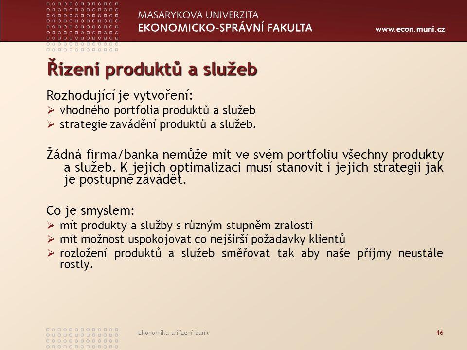 Řízení produktů a služeb