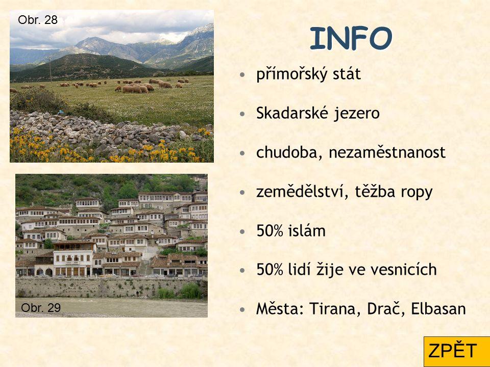 INFO ZPĚT přímořský stát Skadarské jezero chudoba, nezaměstnanost