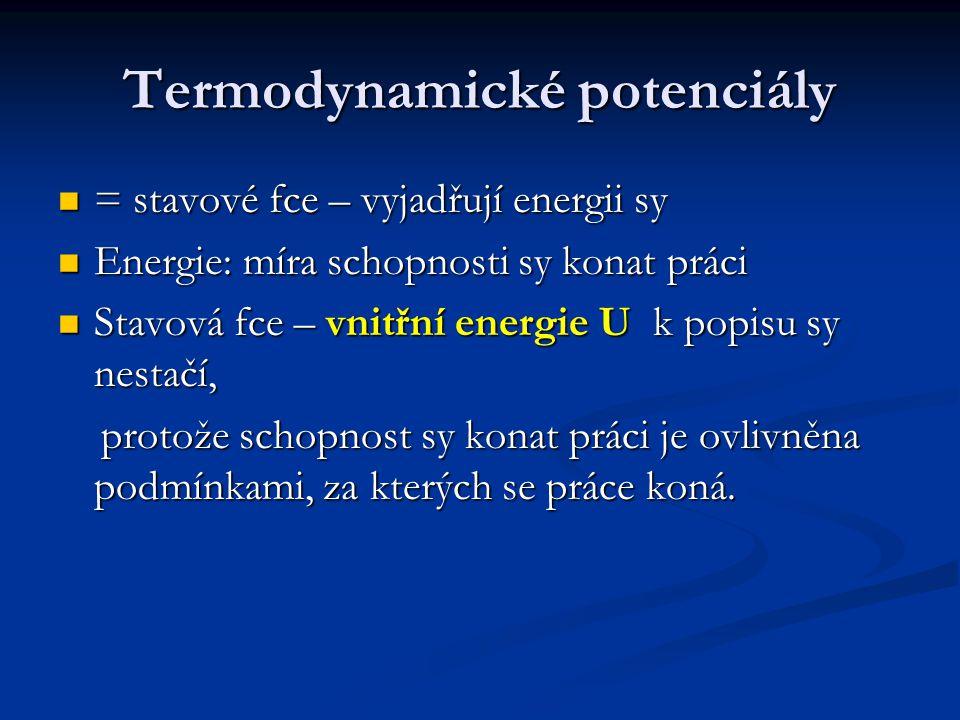 Termodynamické potenciály